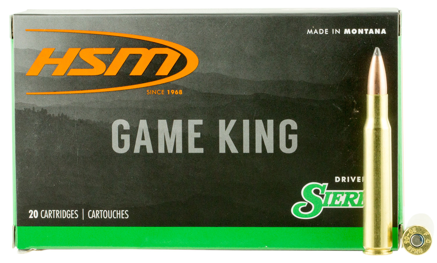 HSM 300639N Game King 30-06 Springfield 150 GR SBT 20 Bx/ 20 Cs