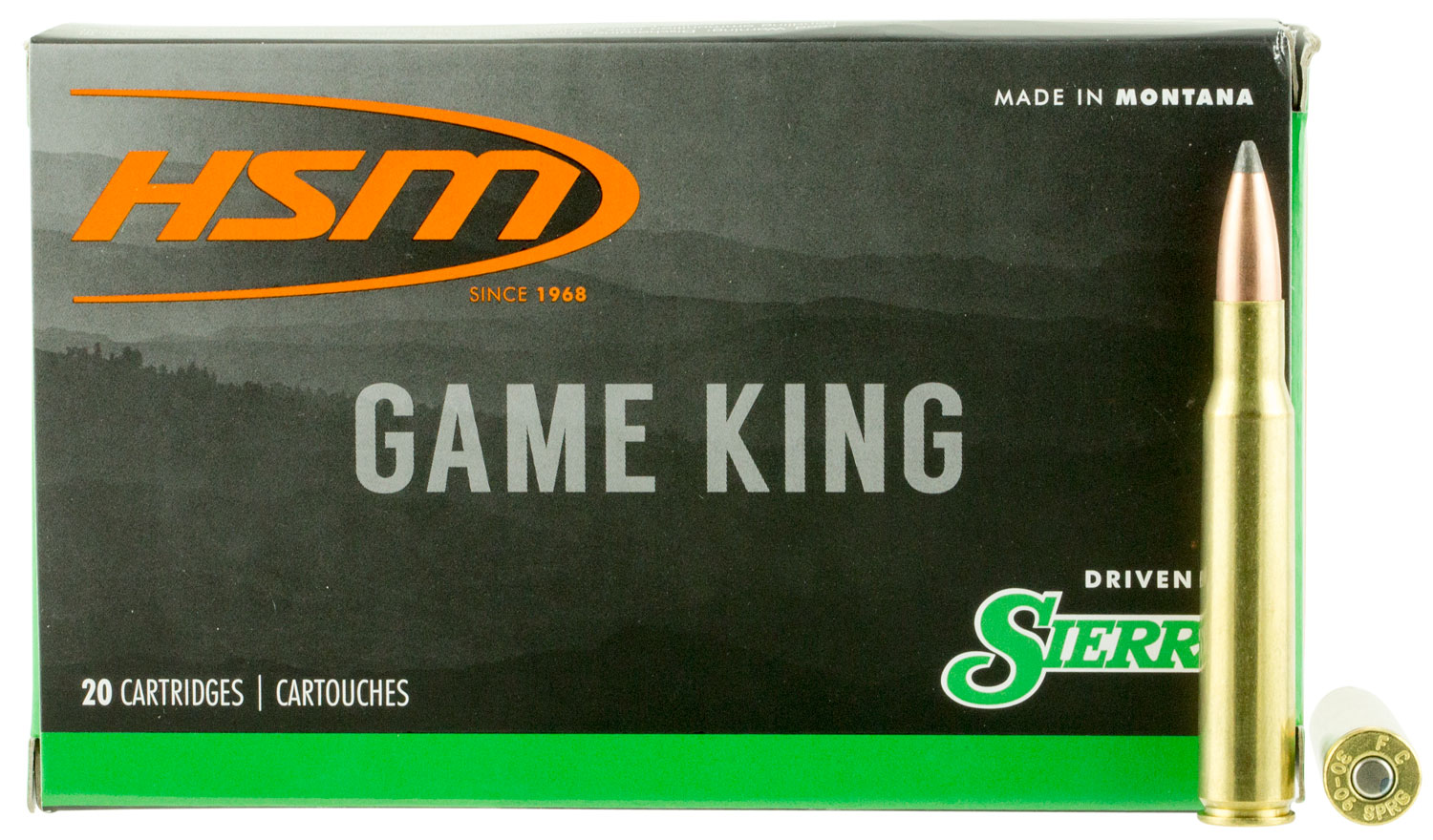 HSM 300640N Game King 30-06 Springfield 165 GR SBT 20 Bx/ 20 Cs