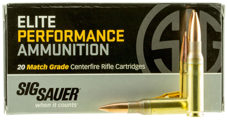 Sig Sauer E308M120 Match Grade 308 Winchester/7.62 NATO 168 GR Open Tip Match 20 Bx/ 25 Cs