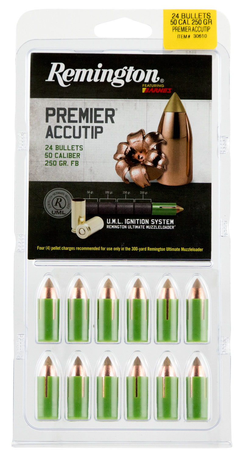 Remington Ammunition RBMLR2A Premier 50 Black Powder 250 GR 24