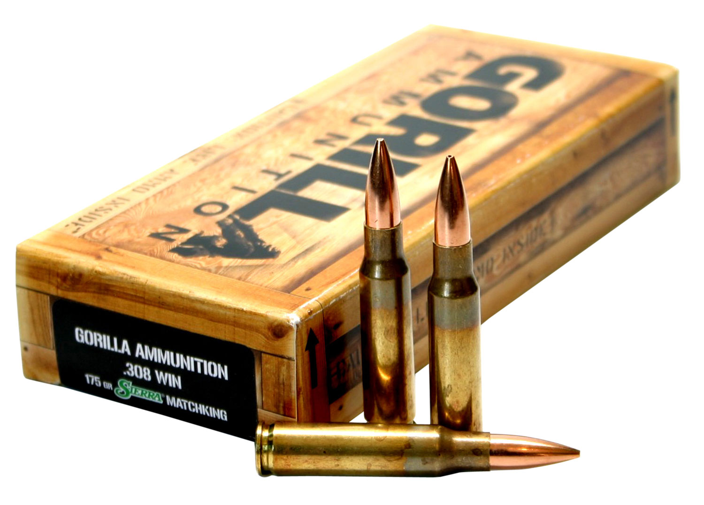 Gorilla GA308175SMK Gorilla Match 308 Winchester/7.62 NATO 175 GR Sierra MatchKing 20 Bx/ 10 Cs