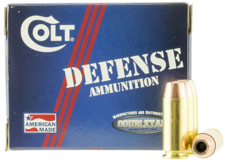 Colt Ammo 10M180CT Defense 10mm Automatic 180 GR JHP 20 Bx/ 50 Cs