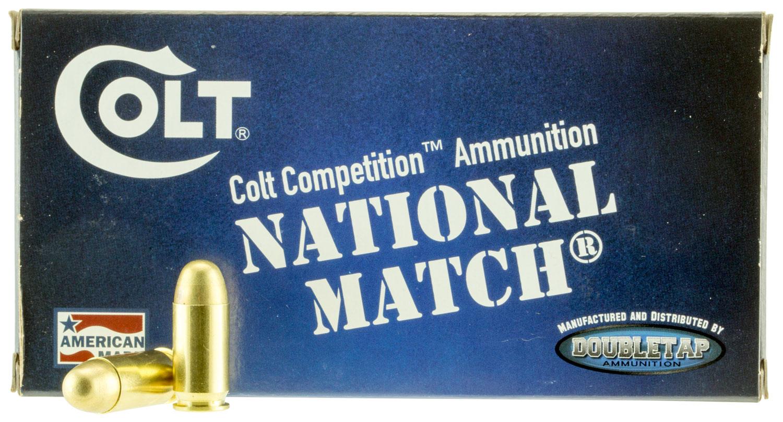 Colt Ammo 45A230FMJCT National Match 45 ACP 230 GR FMJ 50 Bx/ 20 Cs