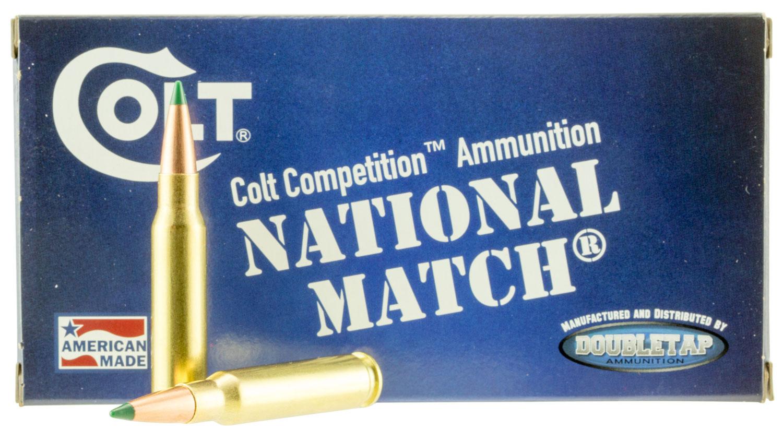 Colt Ammo 308W155CT National Match 308 Win/7.62 NATO 155 GR Match 20 Bx/ 50 Cs