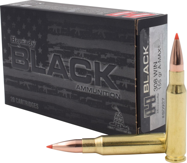 HRNDY BLACK 308WIN 155GR AMAX 20/200