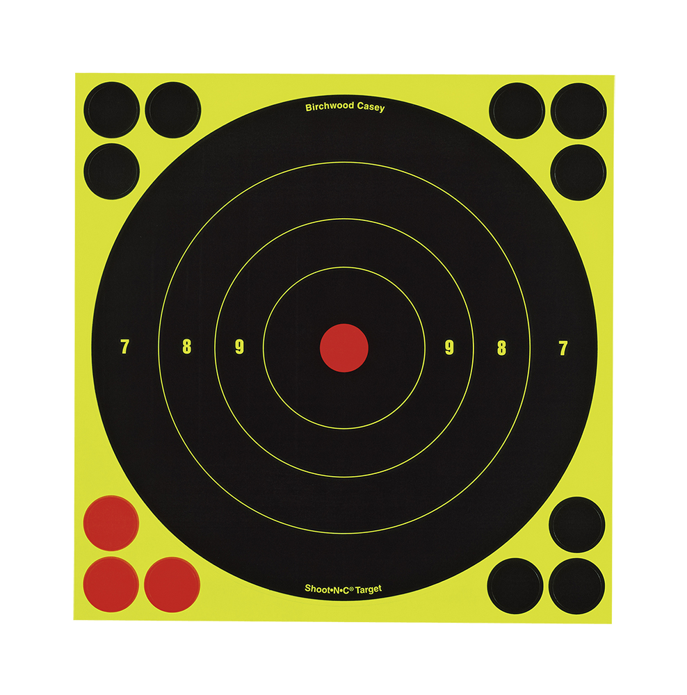 Birchwood Casey Shoot-N-C Target  <br>  Bullseye 8 in. 6 pk.