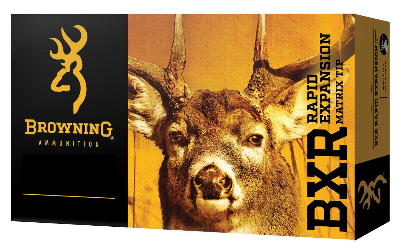 Browning Ammo B192107081 BXR Rapid Expansion 7mm-08 Remington 144 GR Matrix Tip 20 Bx/ 10 Cs
