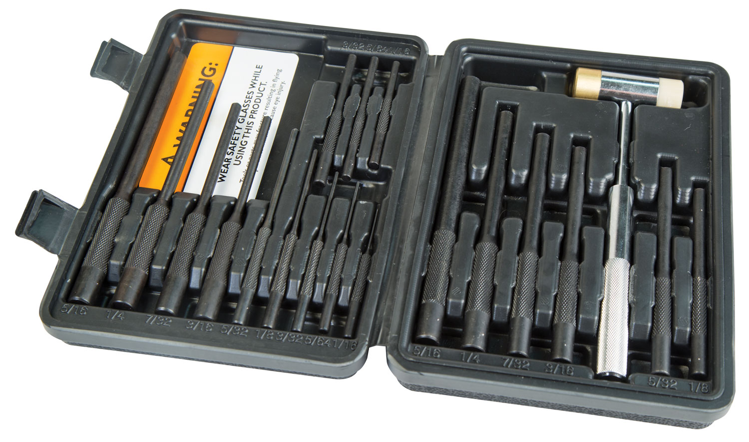 Wheeler 110128 Master Roll Pin Punch Set Master Roll Pin Punch Set