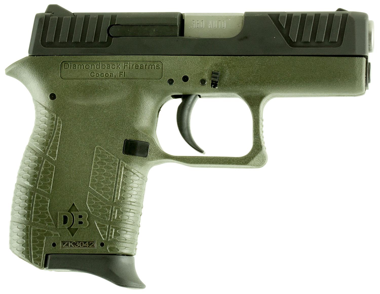 Diamondback DB380ODG DB380 Micro-Compact Double 380 Automatic Colt Pistol (ACP) 2.8
