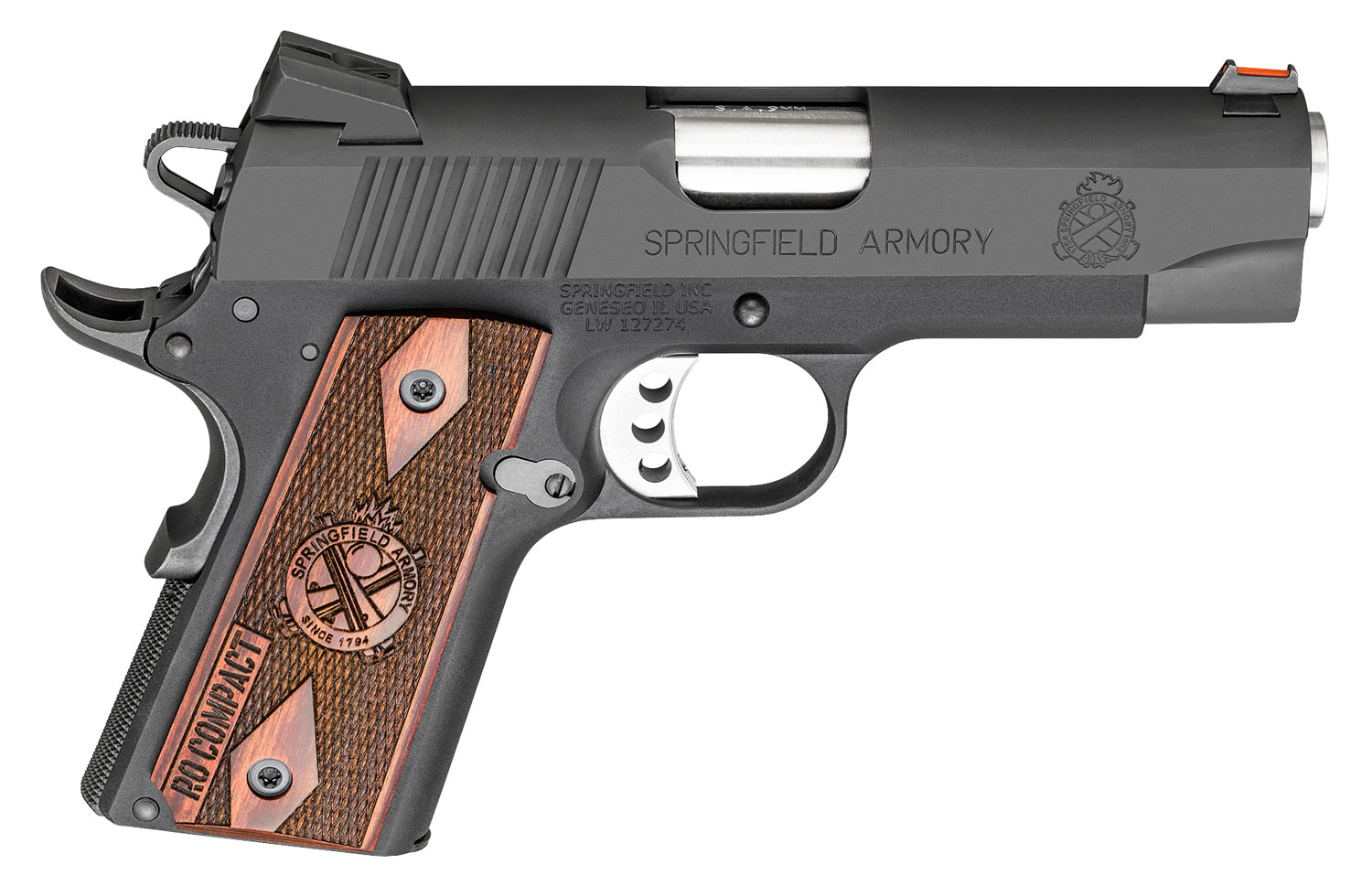 Springfield Armory PI9125L 1911 Range Officer Compact  9mm Luger Single 4