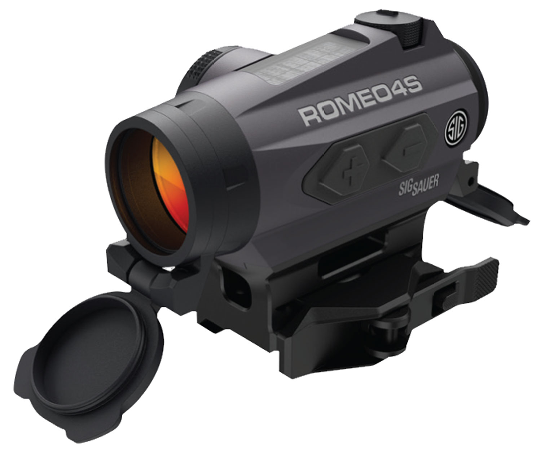 Sig Sauer Electro-Optics SOR43021 Romeo4S 1x 20mm Obj 2 MOA Ballistic Circle Dot Black Solar Panel/CR2032 (1)
