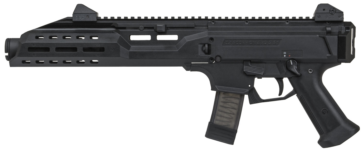 SCORPION PIST 9MM BLK 20+1 CAN - ADJUSTABLE SIGHTS|FLASH CAN