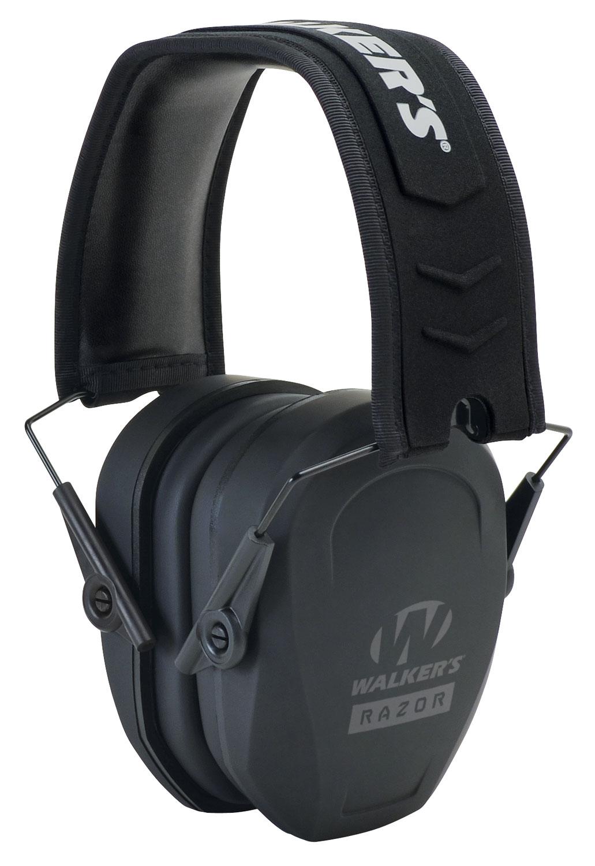 Walkers GWPRSMPAS Razor Slim Passive Earmuff 27 dB Black
