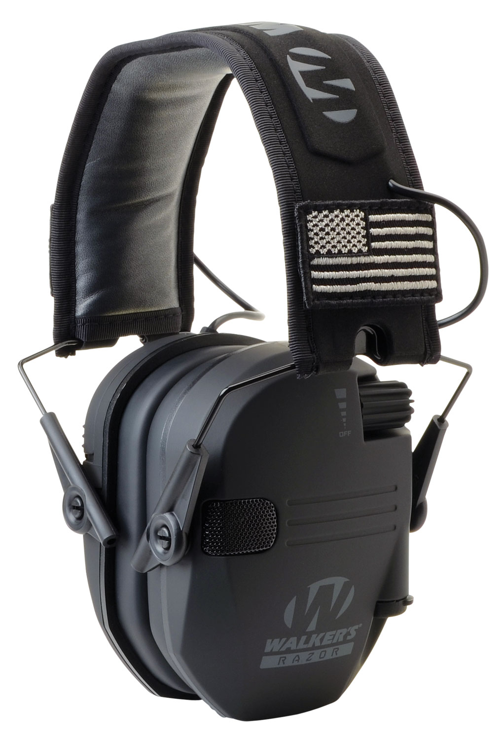 WALKERS MUFF ELECTRONIC RAZOR SLIM PATRIOT 23dB BLACK