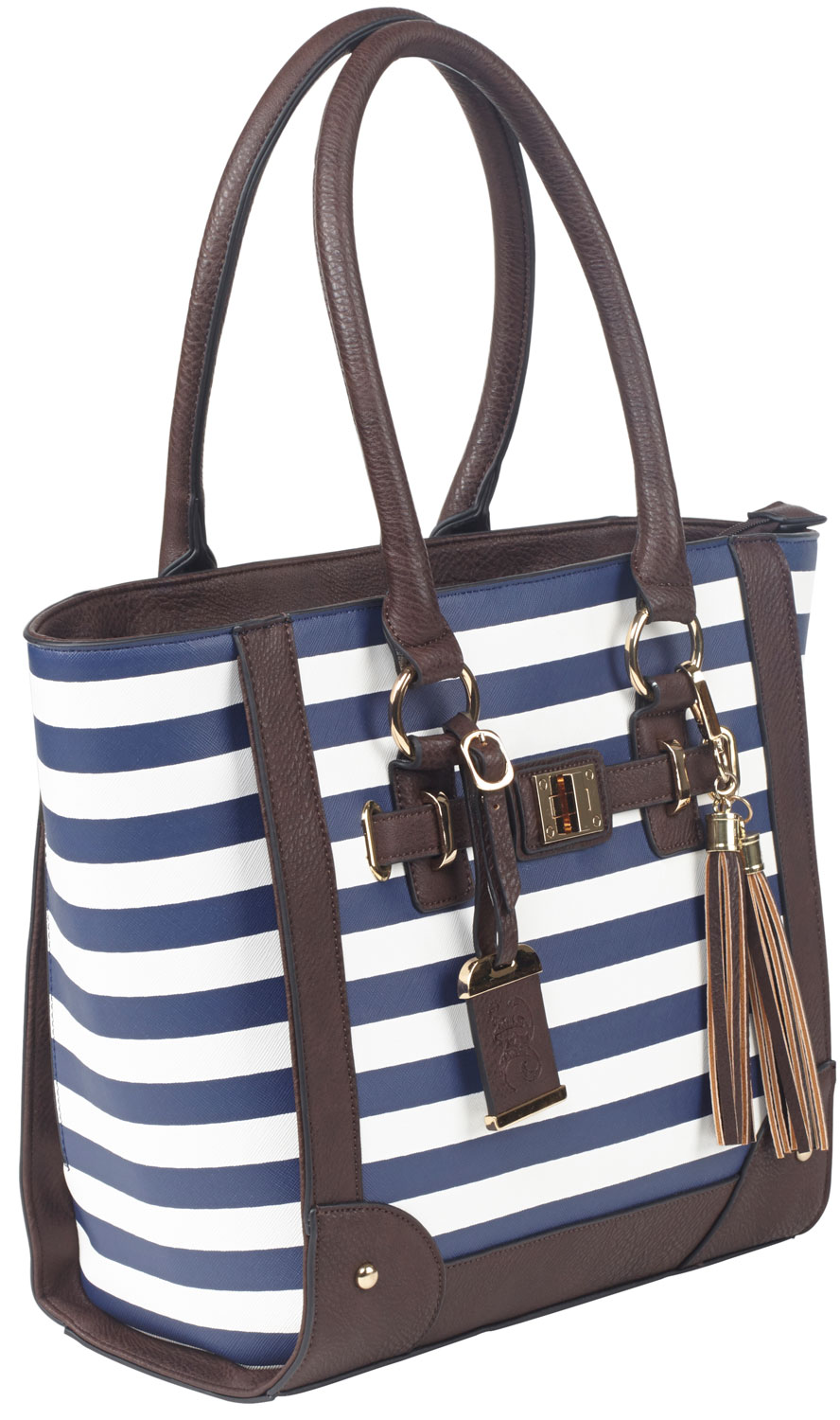 BULLDOG TOTE PURSE NAVY