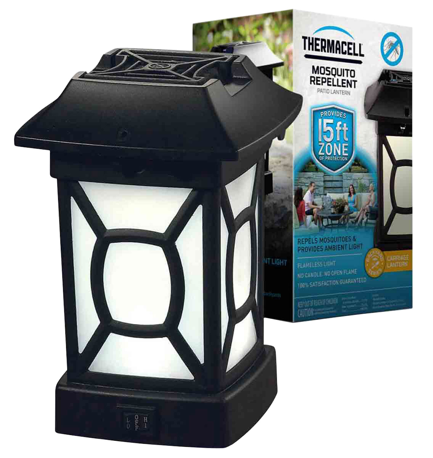 Thermacell MR9W Cambridge Patio Shield Lantern   Odorless Repellent