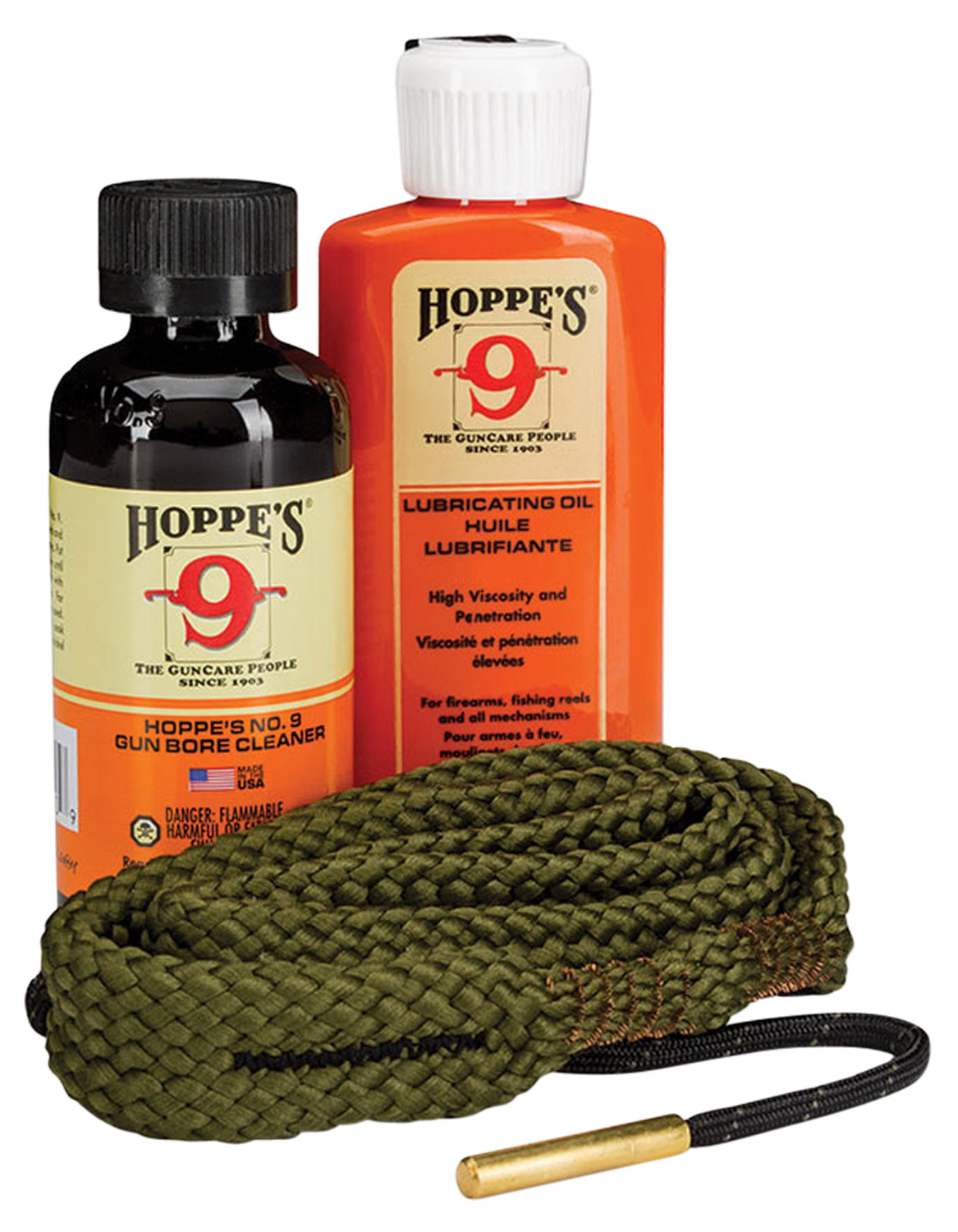 Hoppes 110009 1-2-3 Done Cleaning Kit 9mm-38