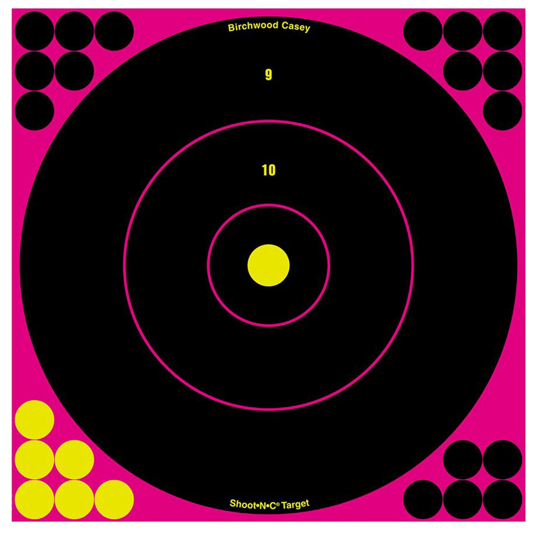 Birchwood Casey 34027 Shoot-N-C Pink Bull's-Eye Target Pink Bull's-Eye Target 12