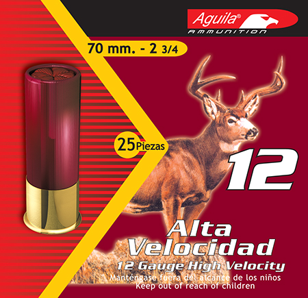 Aguila 1CHB1208 Hunting High Velocity 12 Gauge 2.75