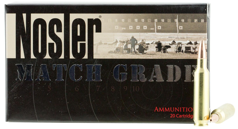 Nosler 60016 Match Grade 22 Nosler 77 GR Custom Competition 20 Bx/ 20 Cs