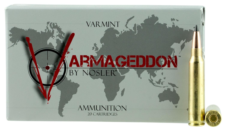 Nosler 65139 Varmageddon 223 Remington/5.56 NATO 53 GR Flat Base Tip 20 Bx/ 10 Cs