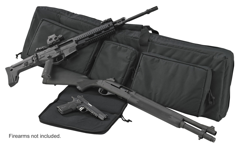 US PeaceKeeper P30049 3-Gun Case Black 600D Polyester Handgun,Rifle,Shotgun 48