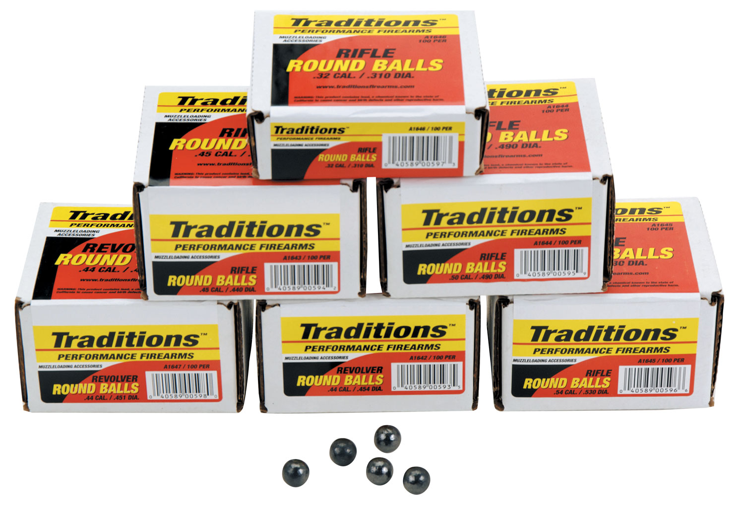 Traditions A1647 Revolver 44 Black Powder 140 GR 100 .451