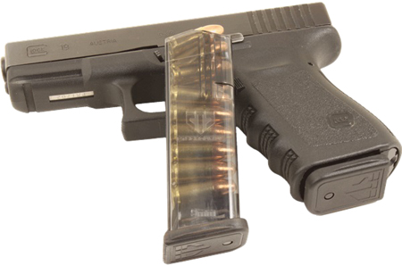 ETS MAG FOR GLK 9MM 15RD SMOKE