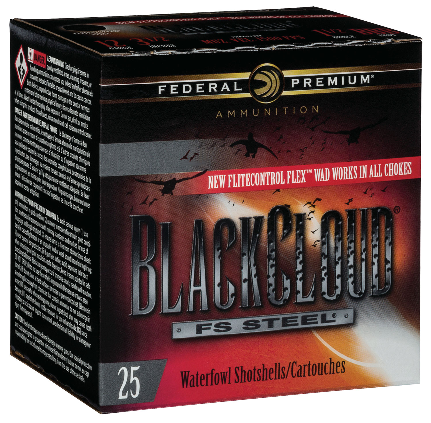 Federal PWBX107BB Black Cloud FS Steel 10 Gauge 3.50