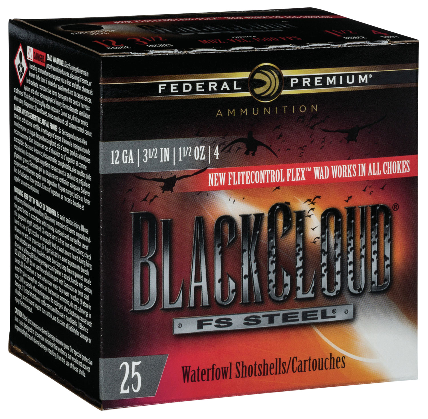 Federal PWBX1344 Black Cloud FS Steel 12 Gauge 3.50