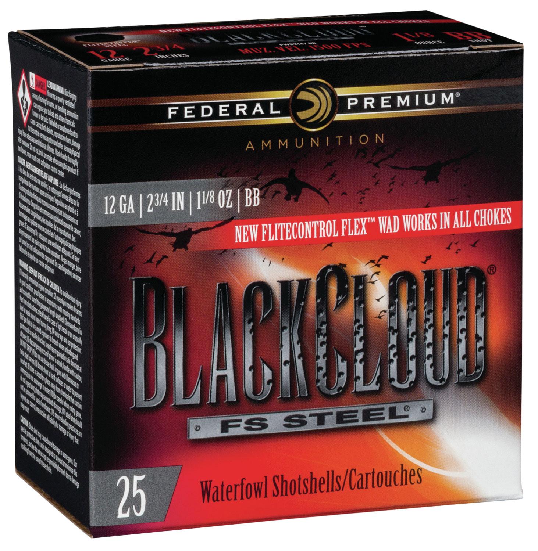 Federal PWBX147BB Black Cloud FS Steel 12 Gauge 2.75