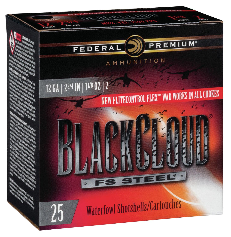 Federal PWBX1472 Black Cloud FS Steel 12 Gauge 2.75