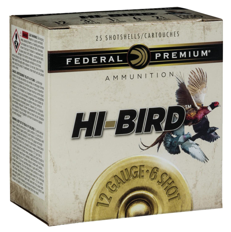 Federal HVF12H6 Premium Upland Hi-Bird  12 Gauge 2.75