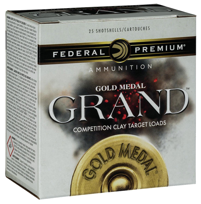 Federal GMT11575 Gold Medal Grand Plastic  12 Gauge 2.75