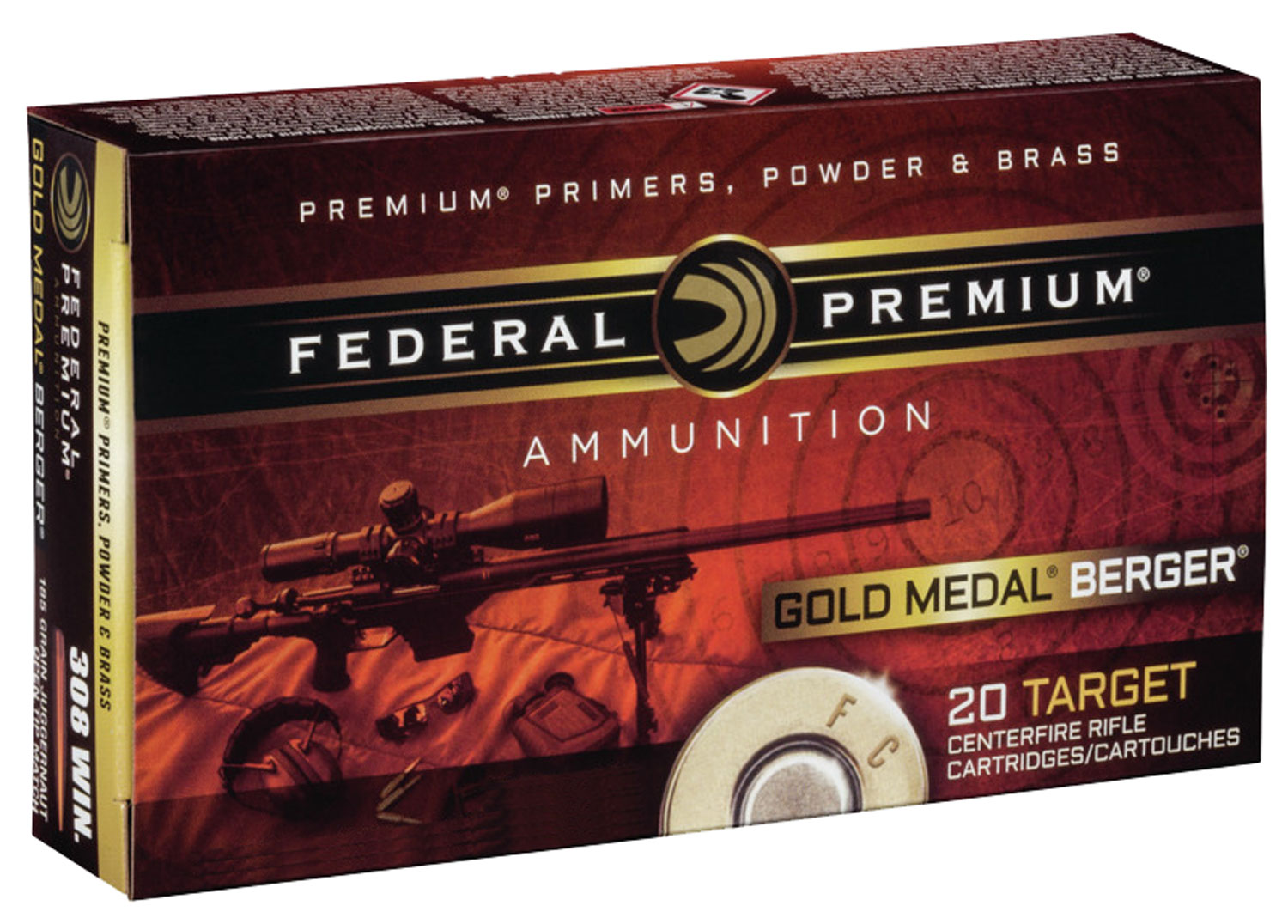 Federal GM223BH73 Gold Medal Target  223 Remington/5.56 NATO 73 GR Boat Tail Hollow Point 20 Bx/ 10 Cs