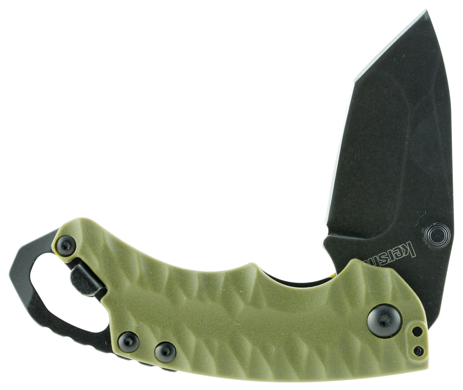 Kershaw Shuffle II Folder 2.375 in Blackwash Plain Olive GFN