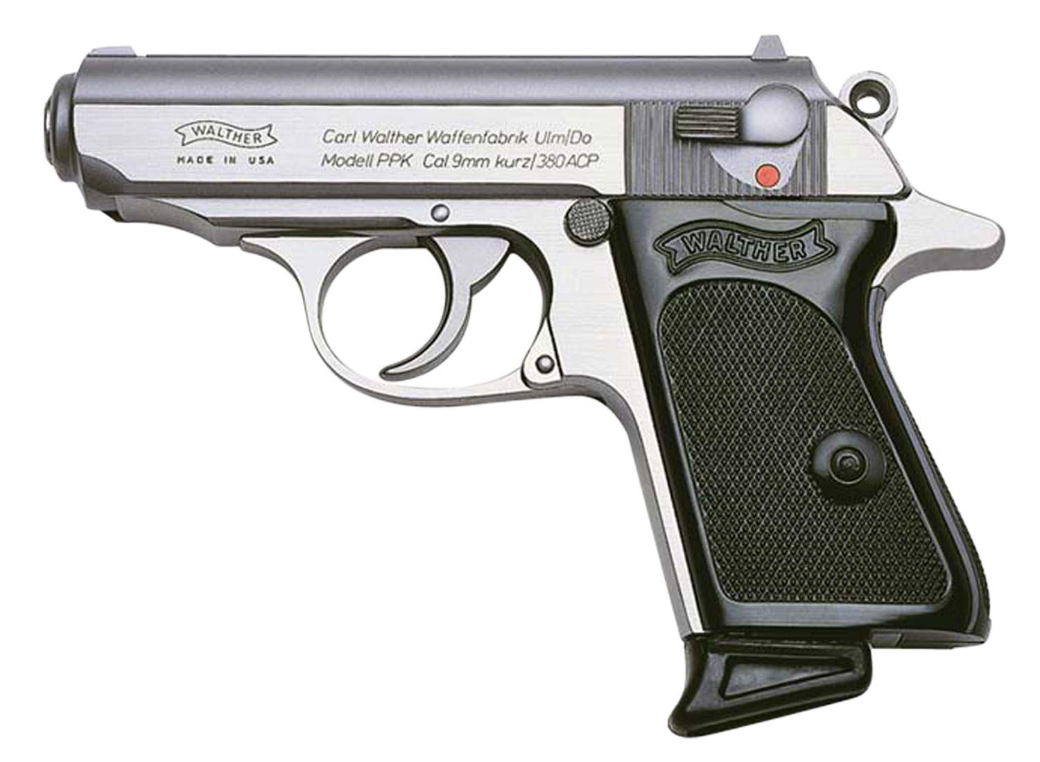 Walther Arms 4796001 PPK Single/Double 380 Automatic Colt Pistol (ACP) 3.3