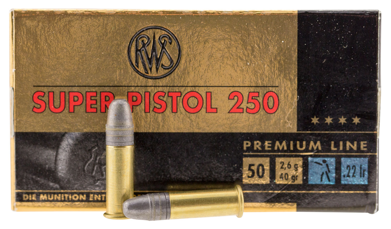 Walther Arms 2315570 22 Long Rifle 40 GR Lead Round Nose 50 Bx/ 1 Cs