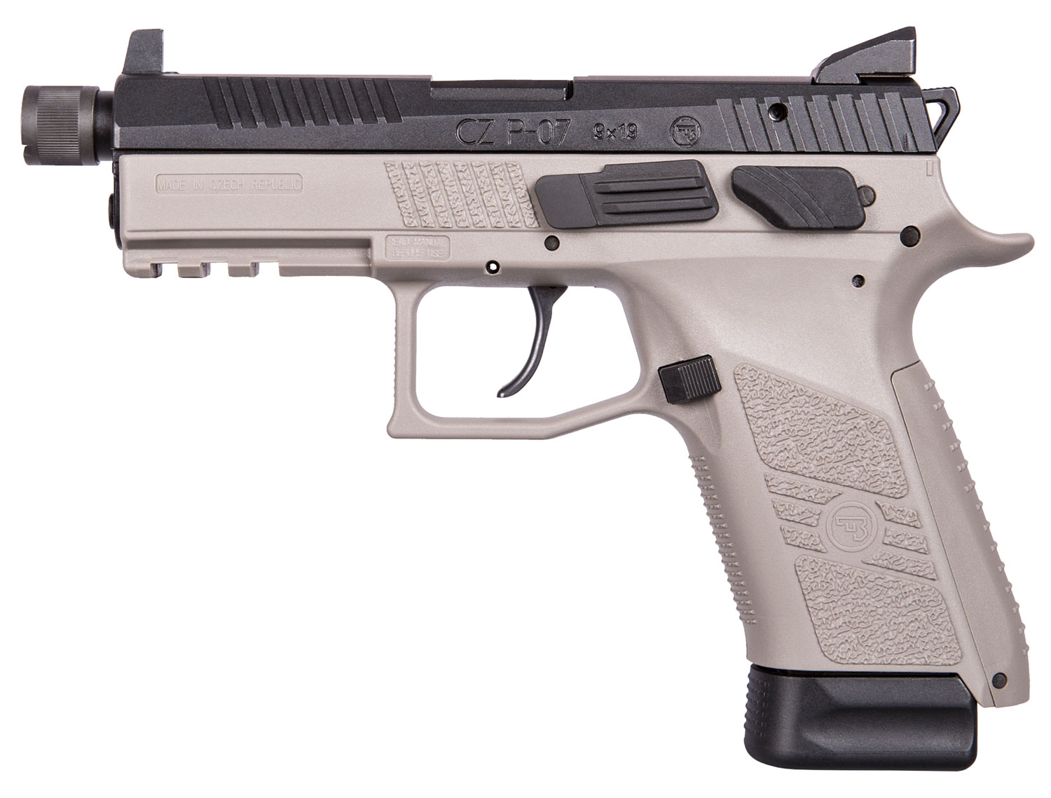 P-07 9MM GREY 17+1 NS THREAD - INTERCHANGEABLE BACK STRAPS