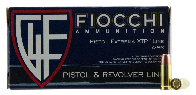 Fiocchi 25XTP Extrema  25 ACP 35 gr XTP Hollow Point 50 Bx/ 10 Cs