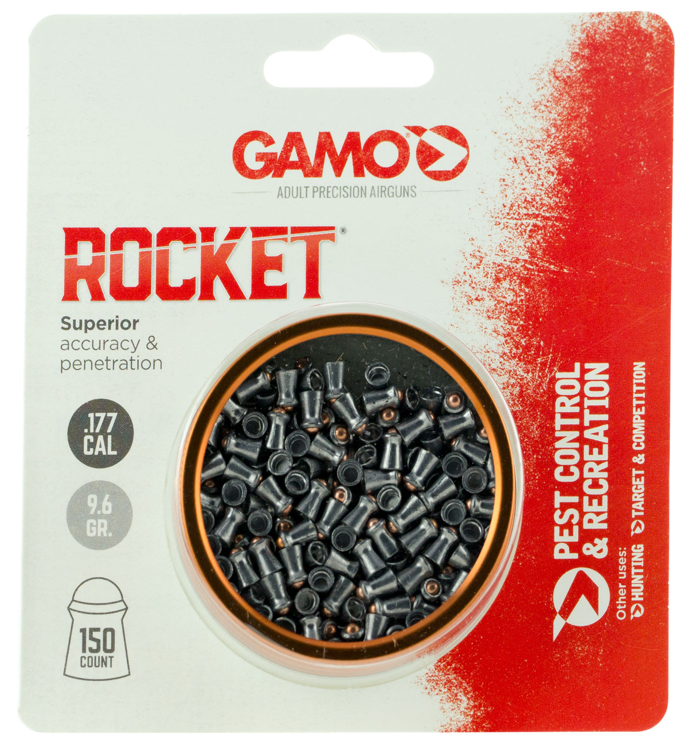 Gamo Rocket Pellets  <br>  .177 150 pk.