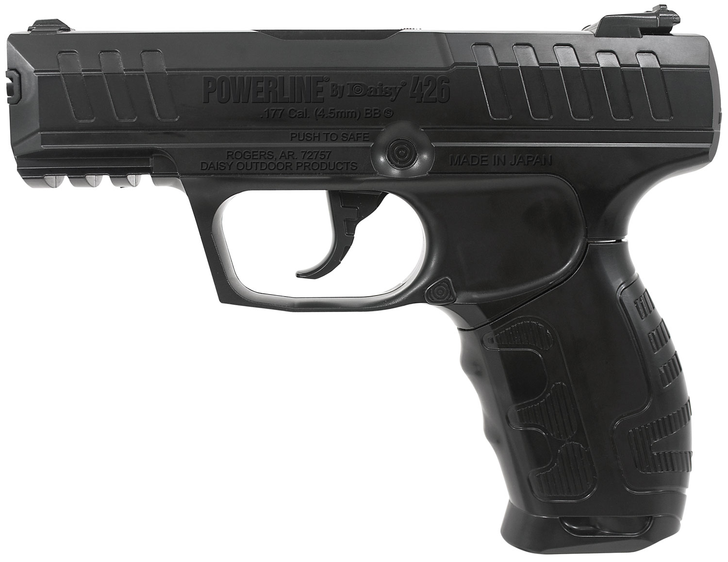 Daisy 980426442 Powerline Air Pistol Semi-Automatic .177 BB Black
