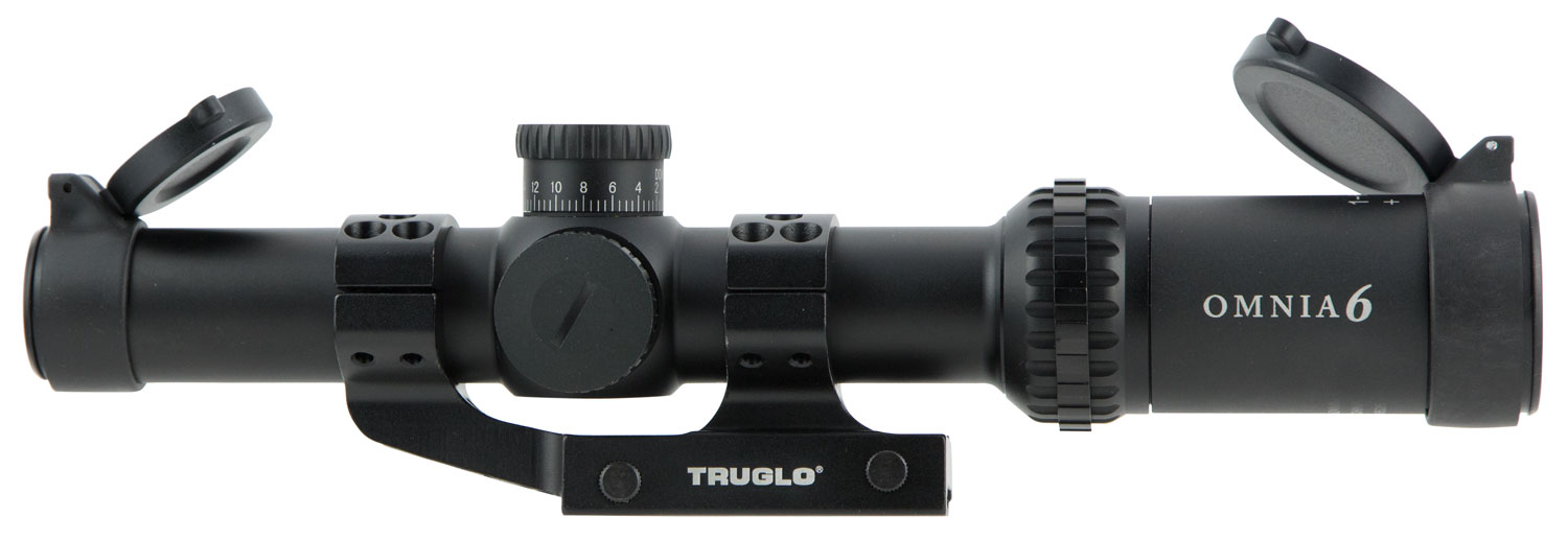Truglo TG8516TLR Omnia Tactical 1-6x 24mm Obj 107.3-17.2 ft @ 100 yds FOV 30mm Tube Black Hardcoat Anodized Finish Illuminated APTR