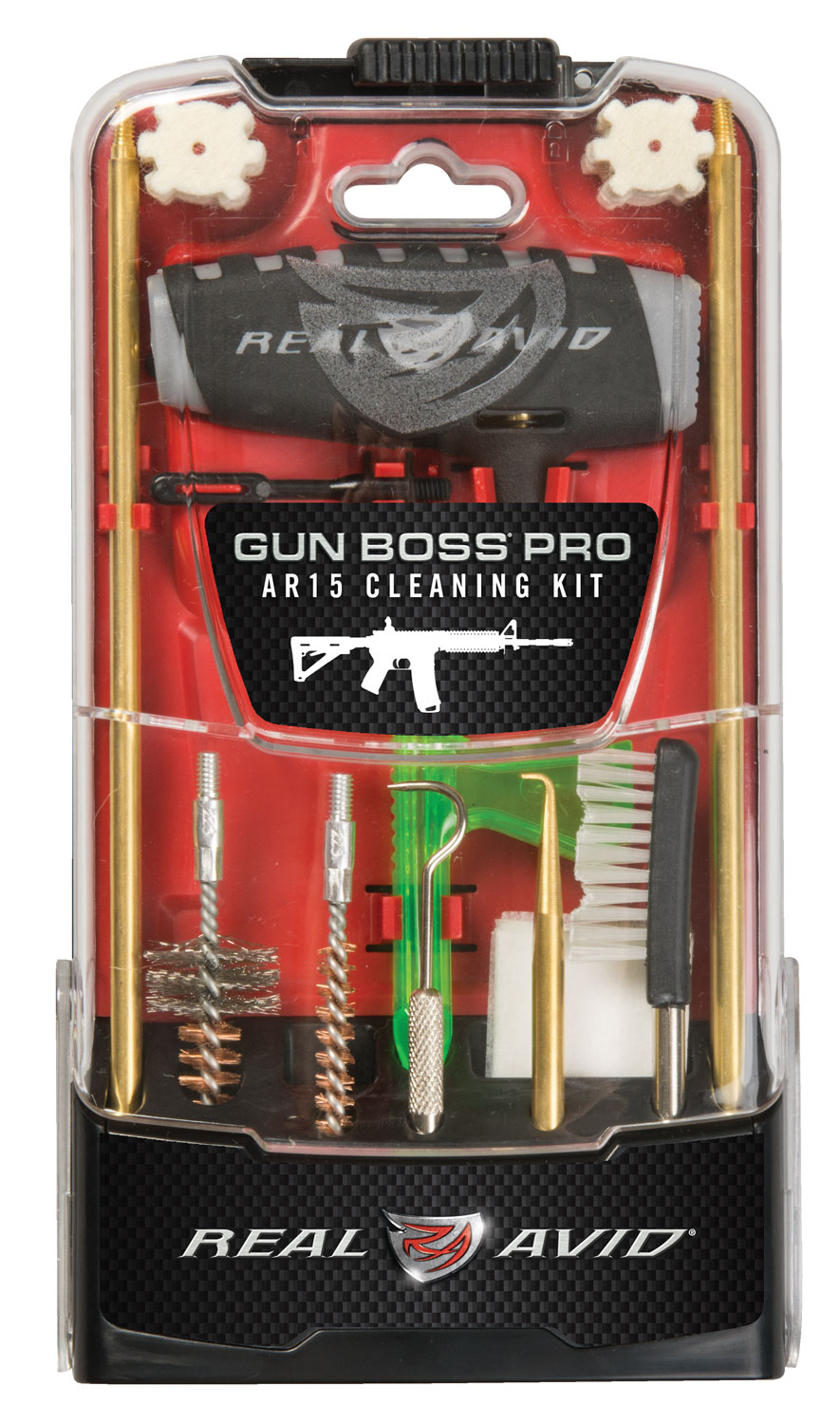 Real Avid/Revo AVGBPROAR15 Gun Boss Pro AR15  Rifle Cleaning Kit