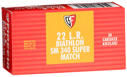 Fiocchi 22SM340 Super Match 22 Long Rifle (LR) 40 GR Round Nose 50 Bx/ 100 Cs
