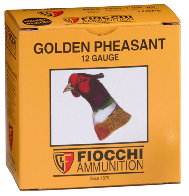 Fiocchi 12GP6 Golden Pheasant Nickel-Plated 12 Ga 2.75