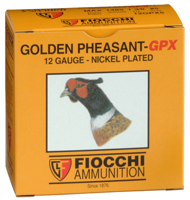Fiocchi 12GPX5 Golden Pheasant Nickel-Plated 12 Ga 2.75