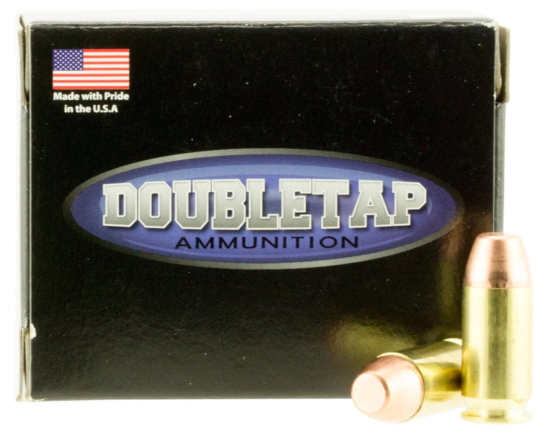 DoubleTap Ammunition 45A230FP DT Hunter 45 ACP 230 GR Full Metal Jacket Flat Point 20 Bx/ 50 Cs