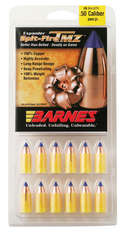 Barnes 30594 Muzzleloader 50 Black Powder Spit-Fire TMZ 290 GR 15Pk