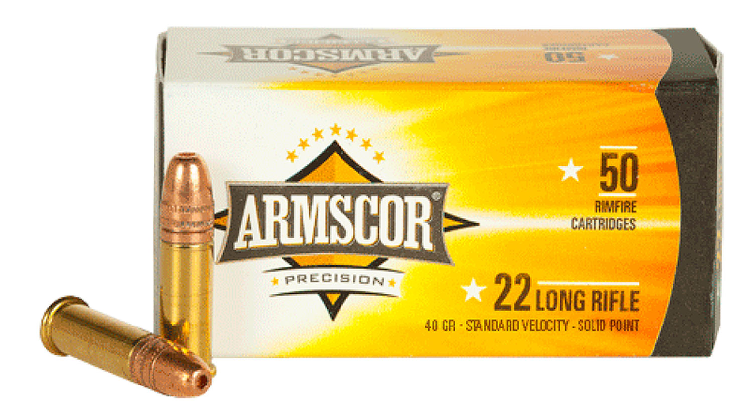 Armscor 50012PH 22 Long Rifle (LR) 40 GR Soft Point 50 Bx/ 100 Cs